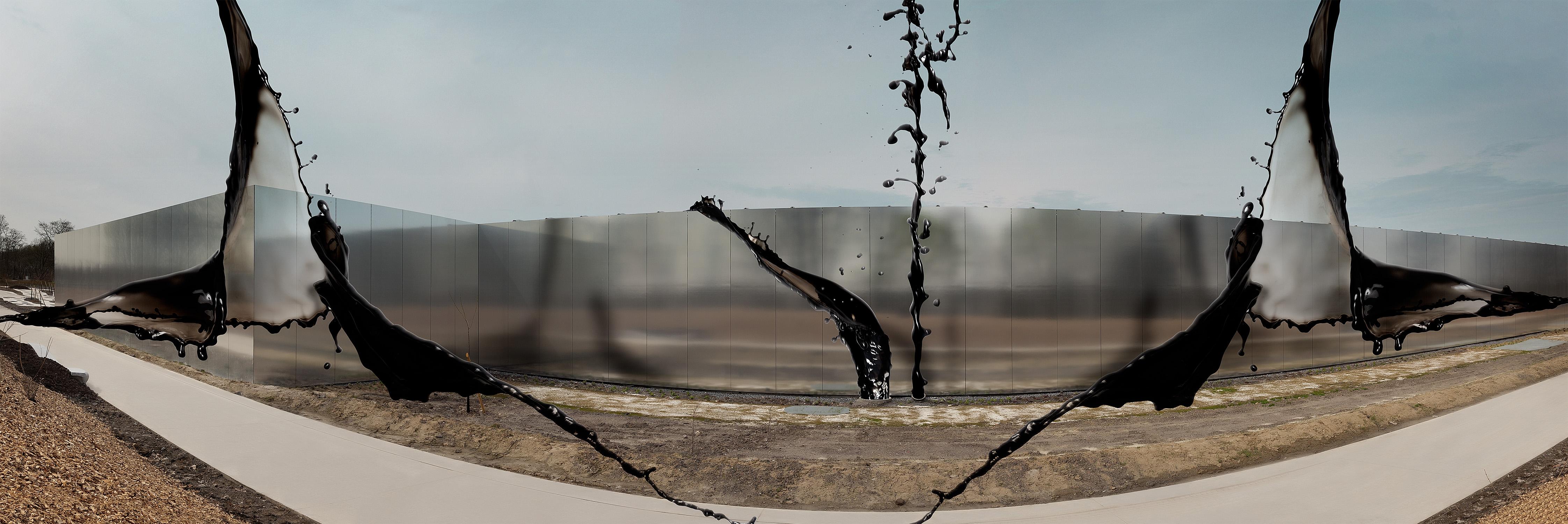 il grido s'infrange contro le mura / percorre labirinti sotterranei di città dolenti / e memorabili abbracci di petrolio nei deserti-50cm x 150cm – PRINT ON FINEART BARYTA HAHNEMÜHLE / DIBOND-©2013 – Edition of 5