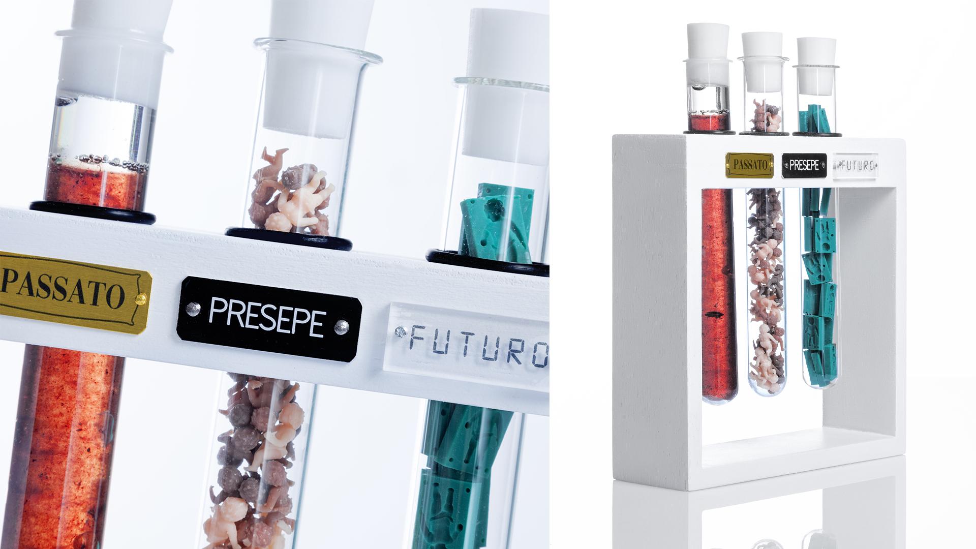 UNiVERSO – passato / presepe / passato-wood, resin, human blood, glass, brass, aluminum, plexiglas-21cm x 21cm x 5cm-©2018 – Edition of 1