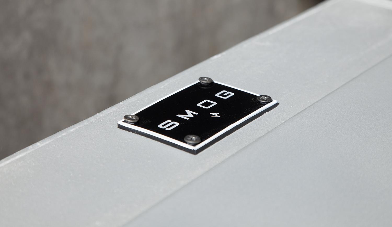 SMOG-55 CM X 65 CM X 120 CM – REFRIGERATOR, CHROME ENAMEL, SMOKE MACHINE-©2019 – edition of 1